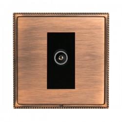 Hamilton Linea-Perlina CFX Copper Bronze with Copper Bronze Frame 1 gang Non-Isolated Female TV Socket