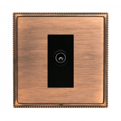 Hamilton Linea-Perlina CFX Copper Bronze with Copper Bronze Frame 1 gang Non-Isolated Male TV Socket