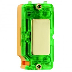 Hamilton Grid Fix Insert Green Neon Polished Brass with Green Insert