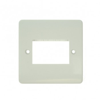 Click Mode Single Triple Aperture White PVC Mini Grid Module Plate