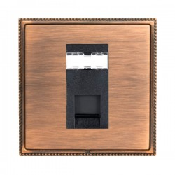 Hamilton Linea-Perlina CFX Copper Bronze with Copper Bronze Frame 1 gang Unshielded RJ12 Outlet