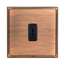 Hamilton Linea-Perlina CFX Copper Bronze with Copper Bronze Frame 1 gang 20AX 2 Way Key Switch