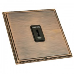 Hamilton Linea-Perlina CFX Copper Bronze with Copper Bronze Frame 1 gang 20AX 2 Way Key Switch 'EMG LTG TEST'