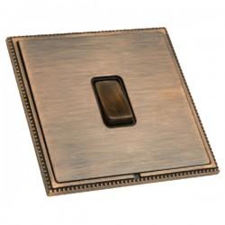 Hamilton Linea-Perlina CFX Copper Bronze with Copper Bronze Frame 1 gang 10AX Push To Make/Push to Break Retractive Rocker