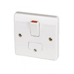 MK Electric Logic Plus™ White 13A Double Pole Switched Fused Connection Unit with Flex Outlet