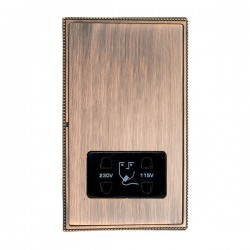 Hamilton Linea-Perlina CFX Copper Bronze with Copper Bronze Frame Vertical Dual Voltage Unswitched Shaver Socket