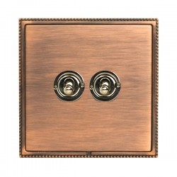 Hamilton Linea-Perlina CFX Copper Bronze with Copper Bronze Frame 2 gang 20AX 2 Way Toggle