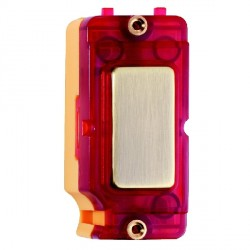 Hamilton Grid Fix Insert Red Neon Antique Brass with Red Insert