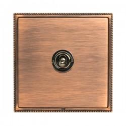 Hamilton Linea-Perlina CFX Copper Bronze with Copper Bronze Frame 1 gang 20AX Intermediate Toggle