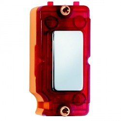 Hamilton Grid Fix Insert Red Neon Bright Chrome with Red Insert