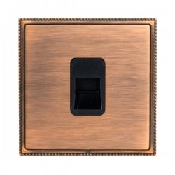 Hamilton Linea-Perlina CFX Copper Bronze with Copper Bronze Frame 1 gang Telephone Master