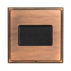 Hamilton Linea-Perlina CFX Copper Bronze with Copper Bronze Frame 1 gang 10A Triple Pole Rocker