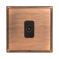 Hamilton Linea-Perlina CFX Copper Bronze with Copper Bronze Frame 1 gang Non-Isolated Television 1in/1out