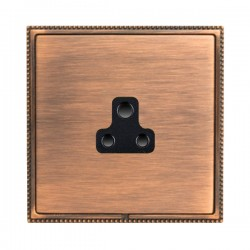 Hamilton Linea-Perlina CFX Copper Bronze with Copper Bronze Frame 1 gang 2A Unswitched Socket