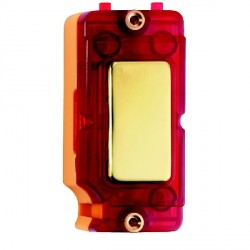 Hamilton Grid Fix Insert Red Neon Polished Brass with Red Insert