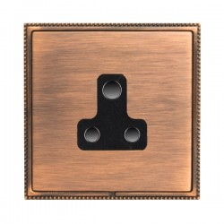 Hamilton Linea-Perlina CFX Copper Bronze with Copper Bronze Frame 1 gang 5A Unswitched Socket