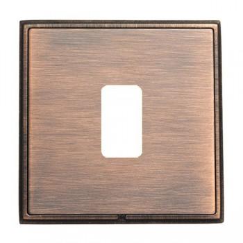 Hamilton Linea-Rondo CFX Copper Bronze with Copper Bronze Frame 1 Gang Grid Fix Aperture Plate with Grid