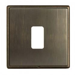 Hamilton Linea-Rondo CFX Etrium Bronze with Etrium Bronze Frame 1 Gang Grid Fix Aperture Plate with Grid