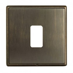 Hamilton Linea-Rondo CFX Richmond Bronze with Richmond Bronze Frame 1 Gang Grid Fix Aperture Plate with G...