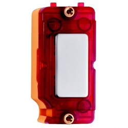 Hamilton Grid Fix Insert Red Neon Pearl Oyster with Red Insert