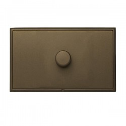 Hamilton Linea-Rondo CFX Richmond Bronze with Richmond Bronze Frame 1 gang 1000W 2 Way Leading Edge Push ...
