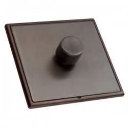 Hamilton Linea-Rondo CFX Etrium Bronze with Etrium Bronze Frame 1 gang 600W 2 Way Leading Edge Push On/Of...