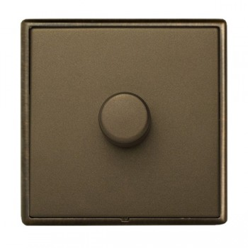 Hamilton Linea-Rondo CFX Richmond Bronze with Richmond Bronze Frame 1 gang 250W/210VA Multi-Way Trailing Edge Push On/Off Dimmer