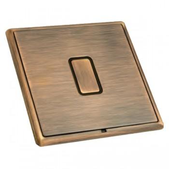 Hamilton Linea-Rondo CFX Copper Bronze with Copper Bronze Frame 1 gang 250W/210VA Multi-Way Touch Master Trailing Edge Dimmer