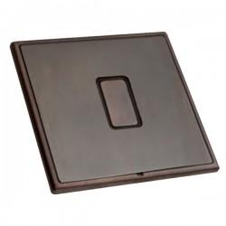 Hamilton Linea-Rondo CFX Etrium Bronze with Etrium Bronze Frame 1 gang 250W/210VA Multi-Way Touch Master ...