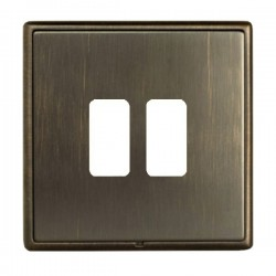 Hamilton Linea-Rondo CFX Richmond Bronze with Richmond Bronze Frame 2 Gang Grid Fix Aperture Plate with G...