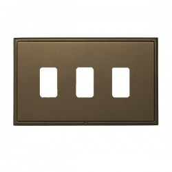 Hamilton Linea-Rondo CFX Richmond Bronze with Richmond Bronze Frame 3 Gang Grid Fix Aperture Plate with G...