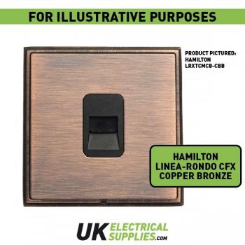 Hamilton Linea-Rondo CFX Copper Bronze with Copper Bronze Frame 3 gang 250W/210VA Multi-Way Touch Master Trailing Edge Dimmer