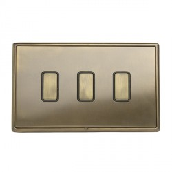 Hamilton Linea-Rondo CFX Connaught Bronze with Connaught Bronze Frame 3 gang Multi-Way Touch Slave Contro...