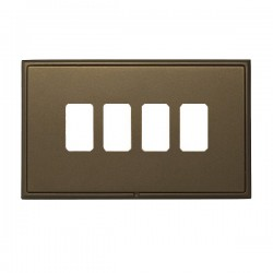 Hamilton Linea-Rondo CFX Richmond Bronze with Richmond Bronze Frame 4 Gang Grid Fix Aperture Plate with G...