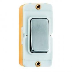 Hamilton Grid Fix Insert Rocker PTM/BRK 10AX Satin Steel/White with White Insert