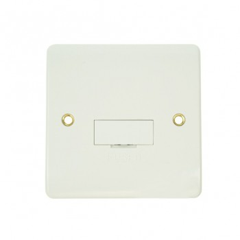 Click Mode 13amp White PVC Fused Spur Connection Unit