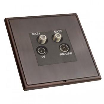 Hamilton Linea-Rondo CFX Etrium Bronze with Etrium Bronze Frame Non-Isolated TV+FM+SAT1+SAT2 Quadplexer 2in/4out