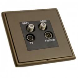 Hamilton Linea-Rondo CFX Richmond Bronze with Richmond Bronze Frame Non-Isolated TV+FM+SAT1+SAT2 Quadplexer 2in/4out