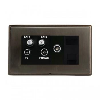 Hamilton Linea-Rondo CFX Etrium Bronze with Etrium Bronze Frame Non-Isolated TV+FM+SAT1+SAT2 Quadplexer 2in/4out +TVF+TCS