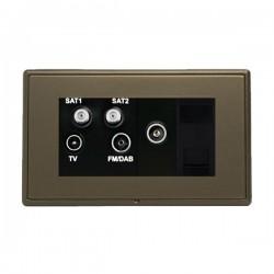 Hamilton Linea-Rondo CFX Richmond Bronze with Richmond Bronze Frame Non-Isolated TV+FM+SAT1+SAT2 Quadplexer 2in/4out +TVF+TCS