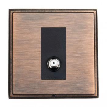 Hamilton Linea-Rondo CFX Copper Bronze with Copper Bronze Frame 1 gang Non-Isolated Digital Satellite