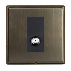 Hamilton Linea-Rondo CFX Richmond Bronze with Richmond Bronze Frame 1 gang Non-Isolated Digital Satellite