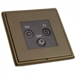 Hamilton Linea-Rondo CFX Richmond Bronze with Richmond Bronze Frame Non-Isolated TV+FM+SAT Triplexer 1in/3out