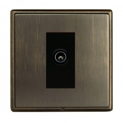 Hamilton Linea-Rondo CFX Richmond Bronze with Richmond Bronze Frame 1 gang Non-Isolated Male TV Socket