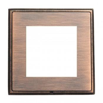 Hamilton Linea-Rondo CFX Copper Bronze with Copper Bronze Frame Single Plate complete with 2 EuroFix Apertures 50x50mm and Grid