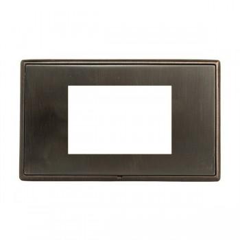 Hamilton Linea-Rondo CFX Etrium Bronze with Etrium Bronze Frame Double Plate complete with 3 EuroFix Apertures 75x50mm and Grid
