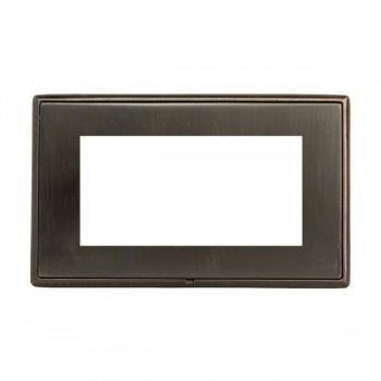 Hamilton Linea-Rondo CFX Etrium Bronze with Etrium Bronze Frame Double Plate complete with 4 EuroFix Apertures 100x50mm and Grid