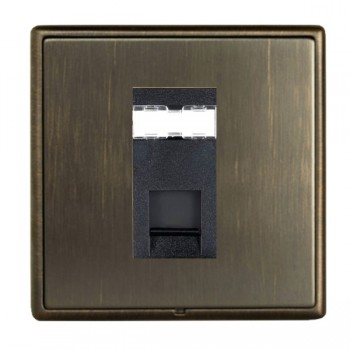 Hamilton Linea-Rondo CFX Etrium Bronze with Etrium Bronze Frame 1 gang Unshielded RJ12 Outlet