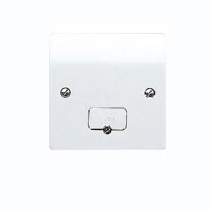 MK Electric Logic Plus™ White 13A Unswitched Fused Connection Unit with Flex Outlet