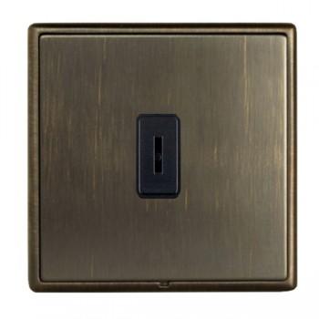 Hamilton Linea-Rondo CFX Etrium Bronze with Etrium Bronze Frame 1 gang 20AX 2 Way Key Switch